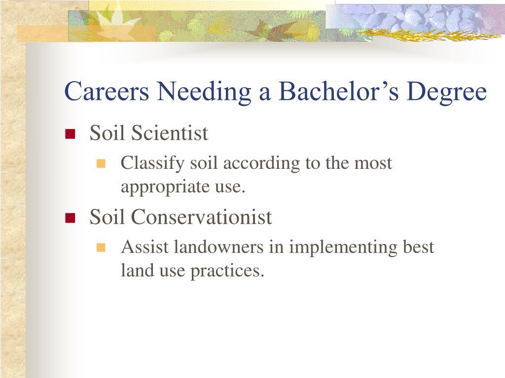 Careers Needing a Bachelor's Degree