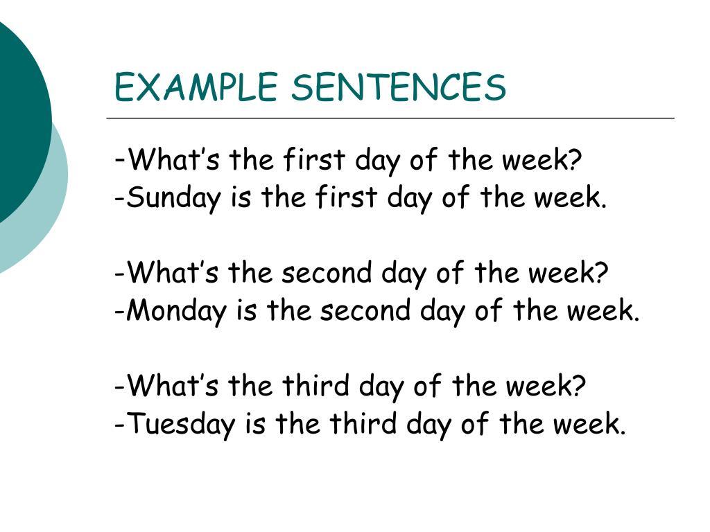 EXAMPLE SENTENCES