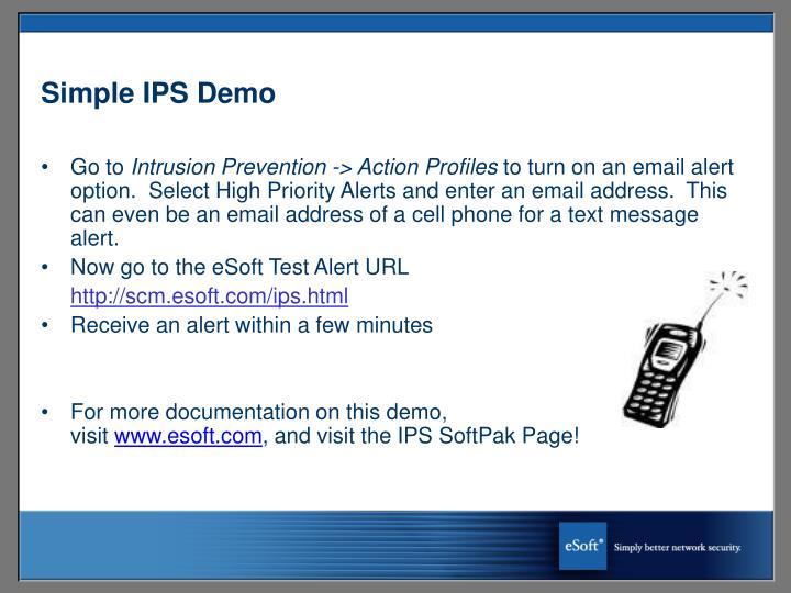 Simple IPS Demo