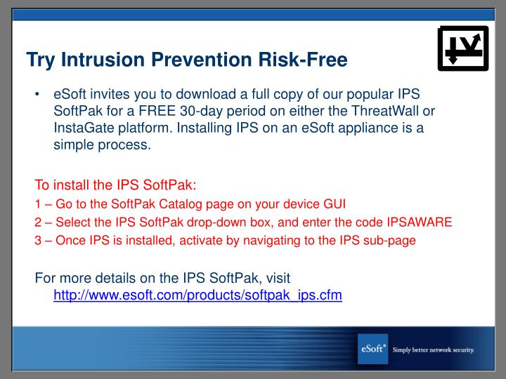 Try Intrusion Prevention Risk-Free