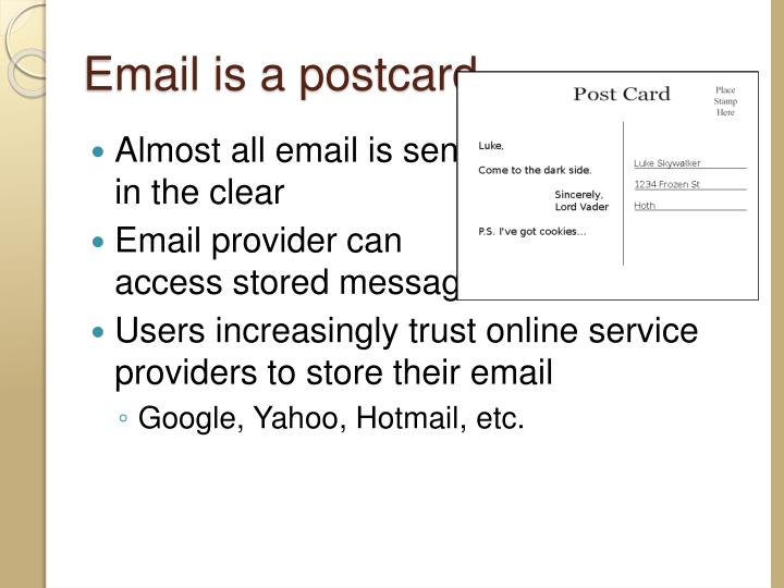 Email is a postcard