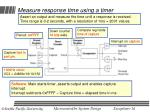 measure response time using a timer