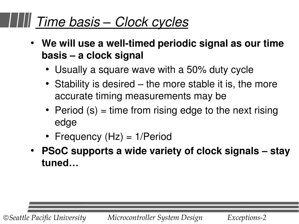Time basis – Clock cycles