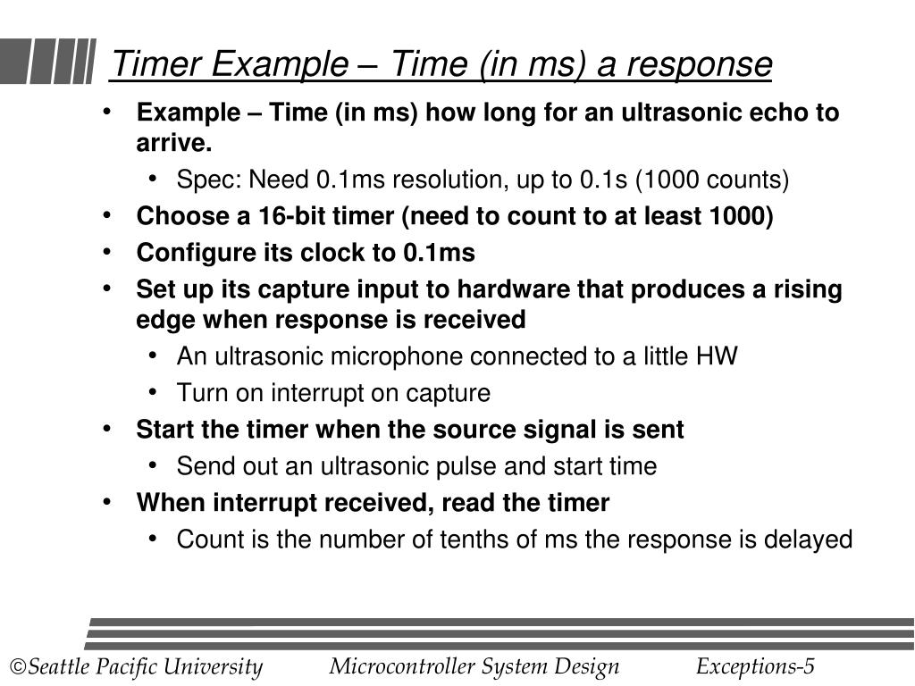 Timer Example – Time (in ms) a response