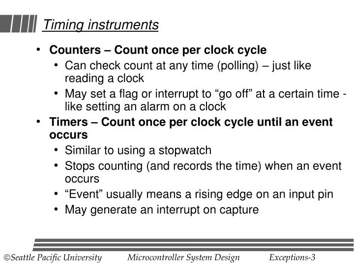 Timing instruments