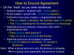 how to ensure agreement