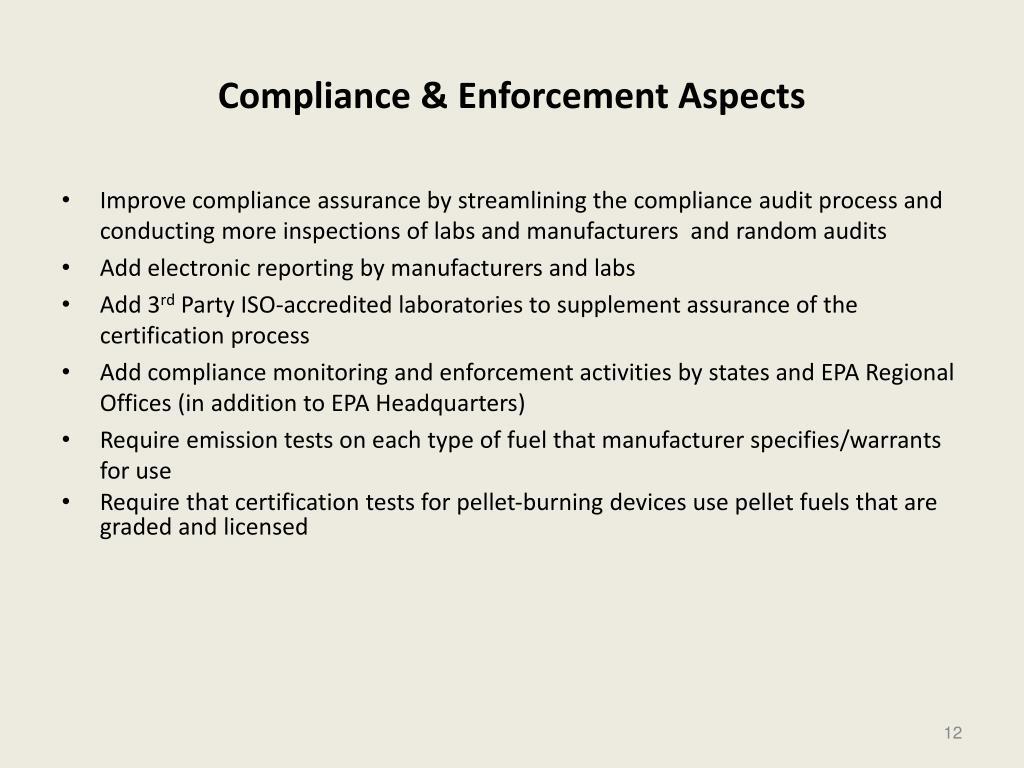 Compliance & Enforcement Aspects