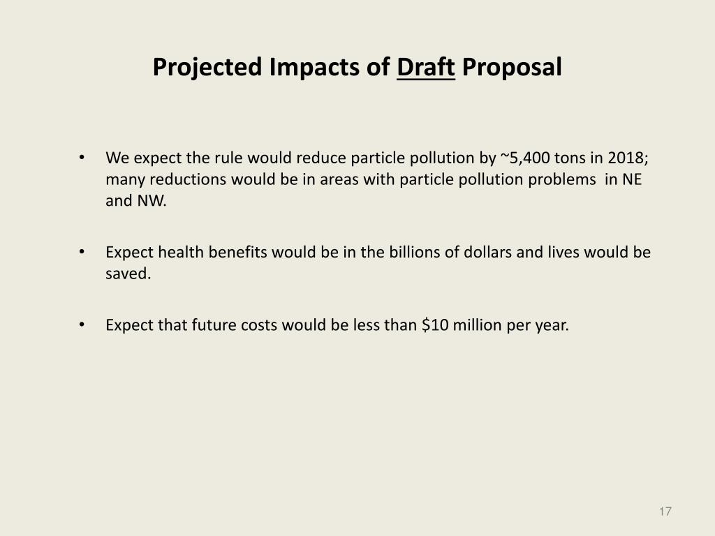 Projected Impacts of