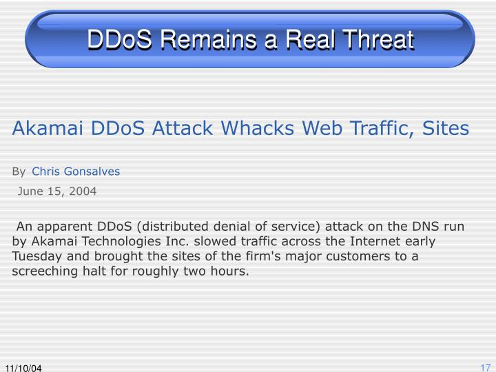 DDoS Remains a Real Threat