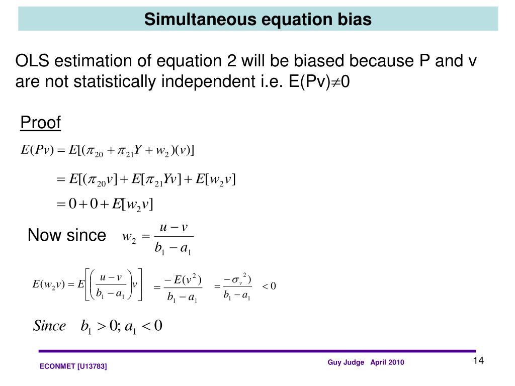Simultaneous equation bias