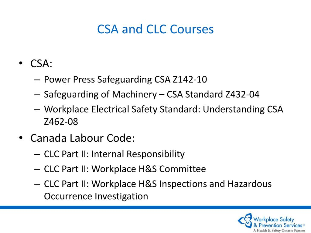 CSA and CLC Courses
