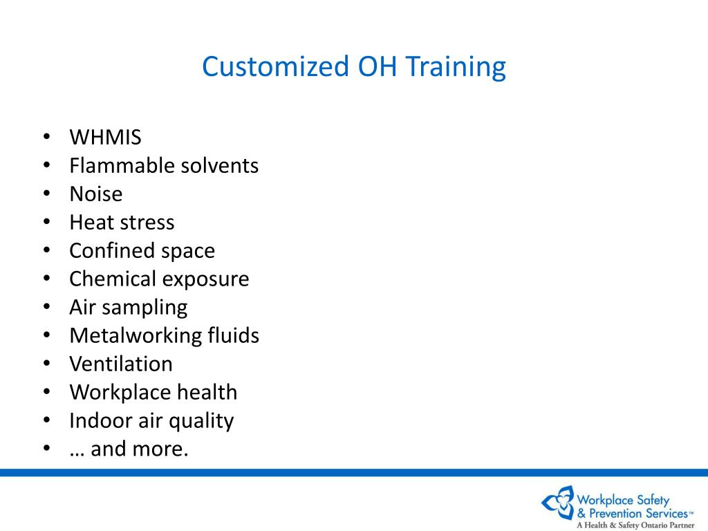 Customized OH Training