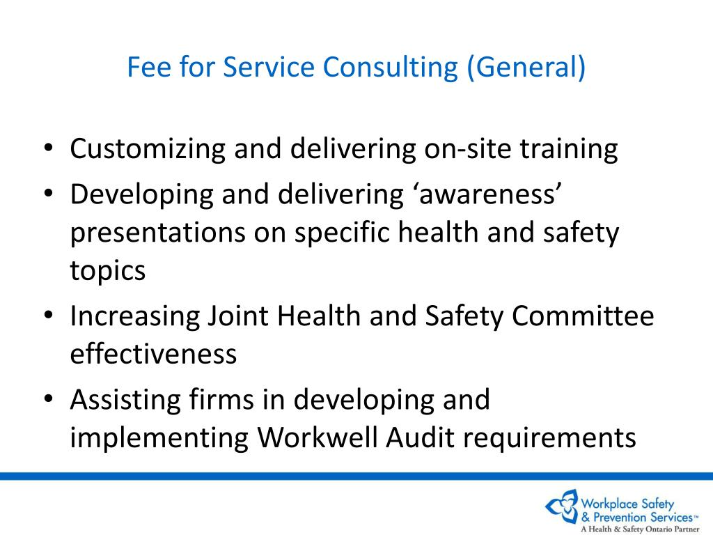 Fee for Service Consulting (General)