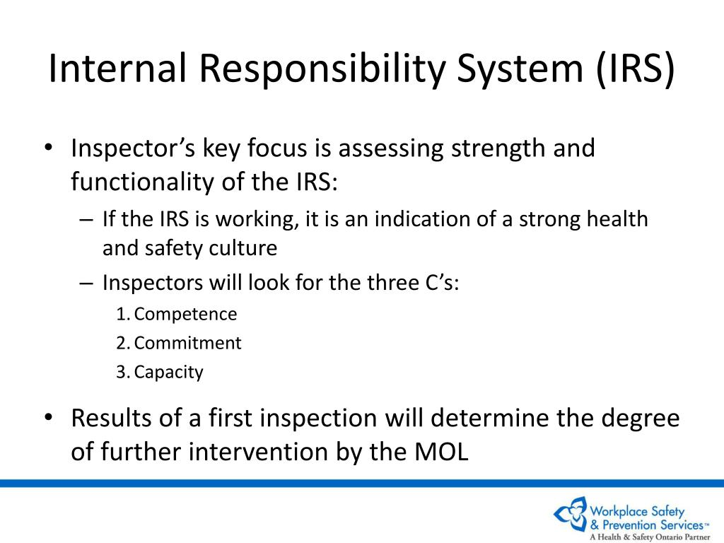 Internal Responsibility System (IRS)