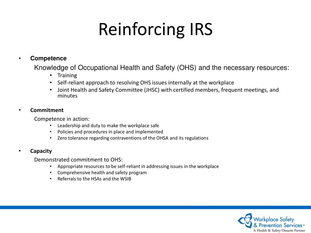 Reinforcing IRS