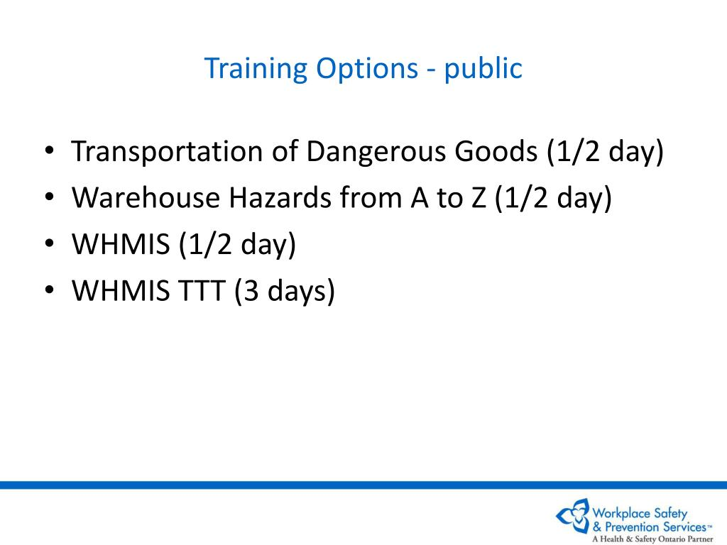 Training Options - public