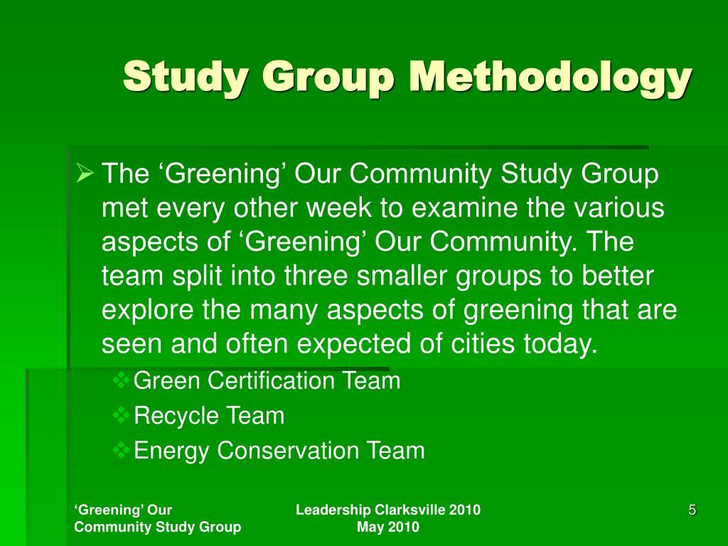 Study Group Methodology