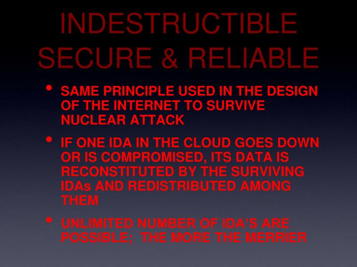 INDESTRUCTIBLE SECURE & RELIABLE