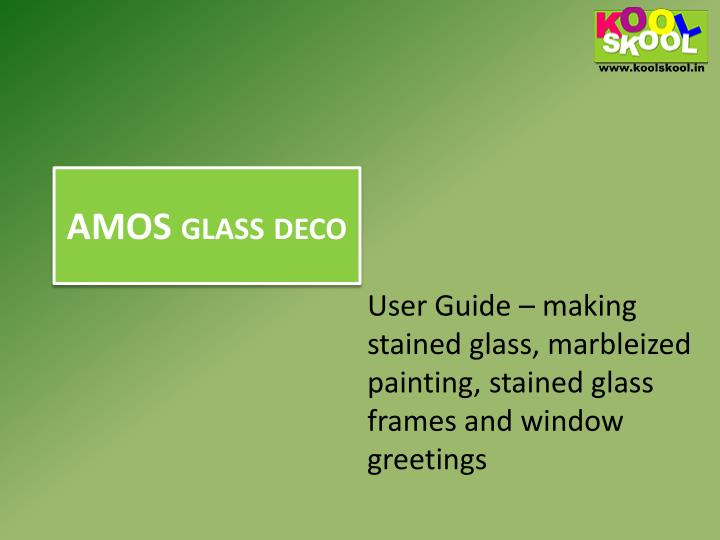 Amos glass deco
