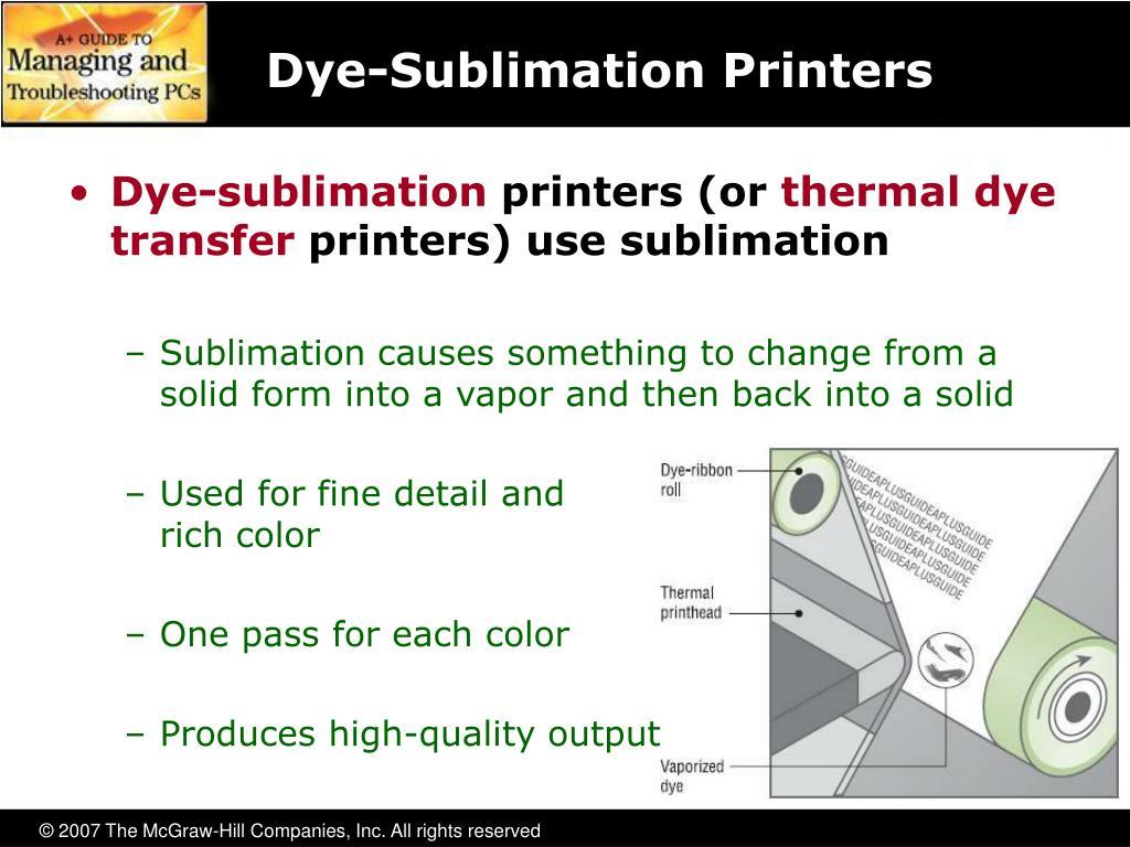 Dye-Sublimation Printers