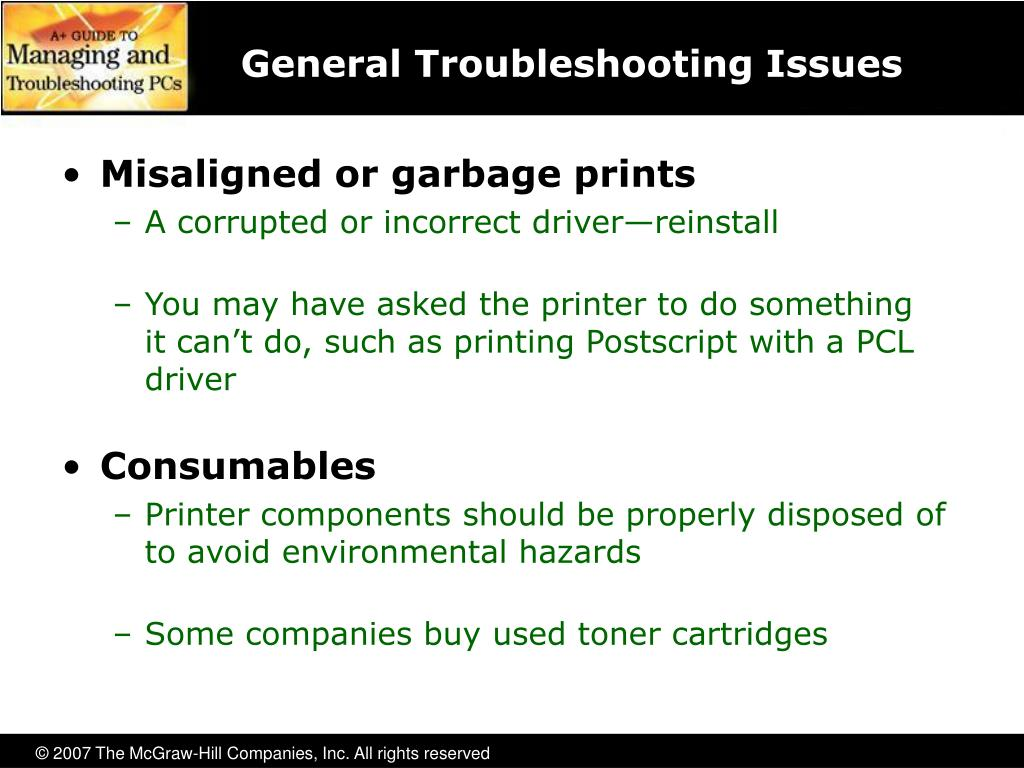 General Troubleshooting Issues