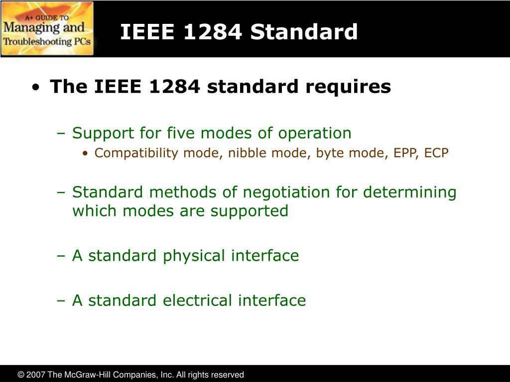 IEEE 1284 Standard