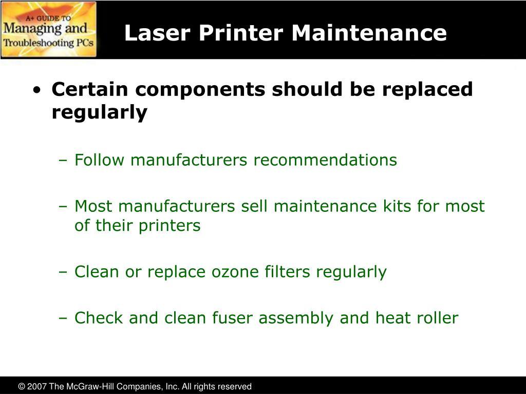 Laser Printer Maintenance