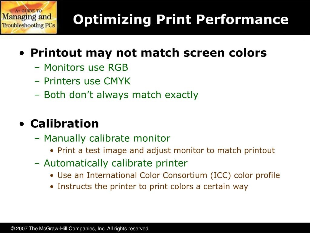 Optimizing Print Performance