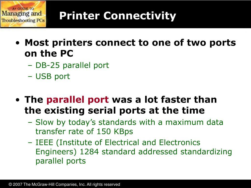 Printer Connectivity