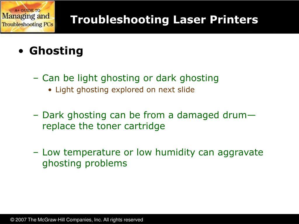 Troubleshooting Laser Printers
