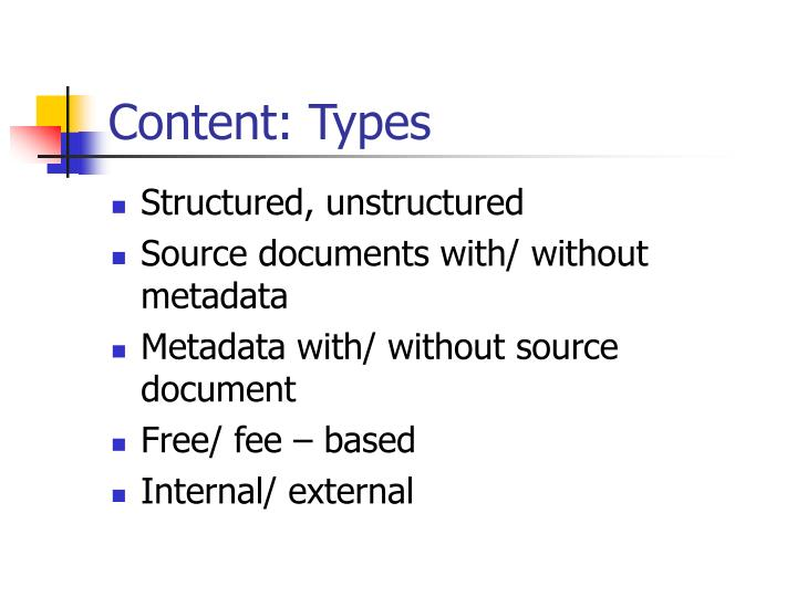 Content: Types