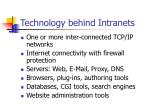 technology behind intranets