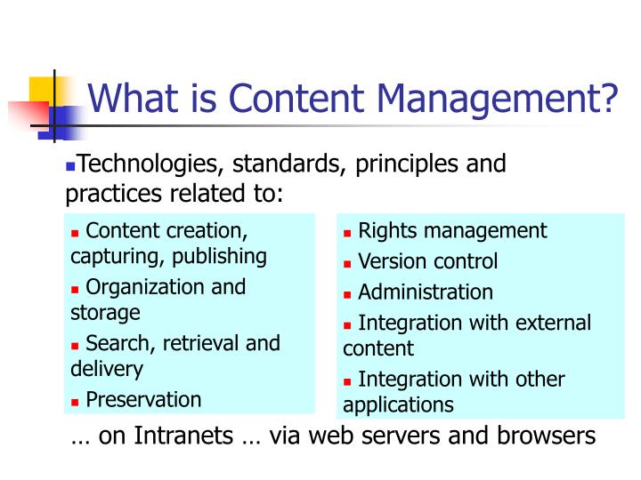 What is Content Management?