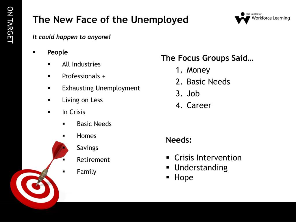 The New Face of the Unemployed