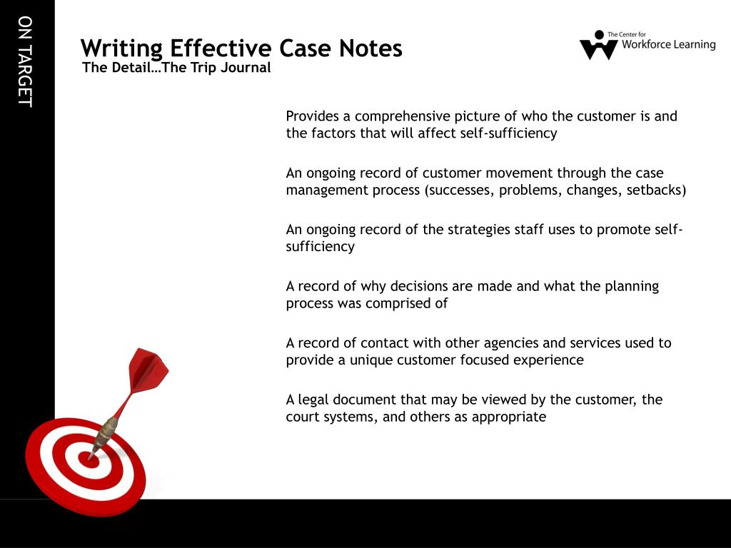 Writing Effective Case Notes