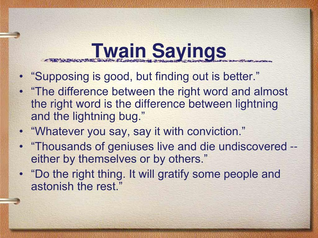 Twain Sayings