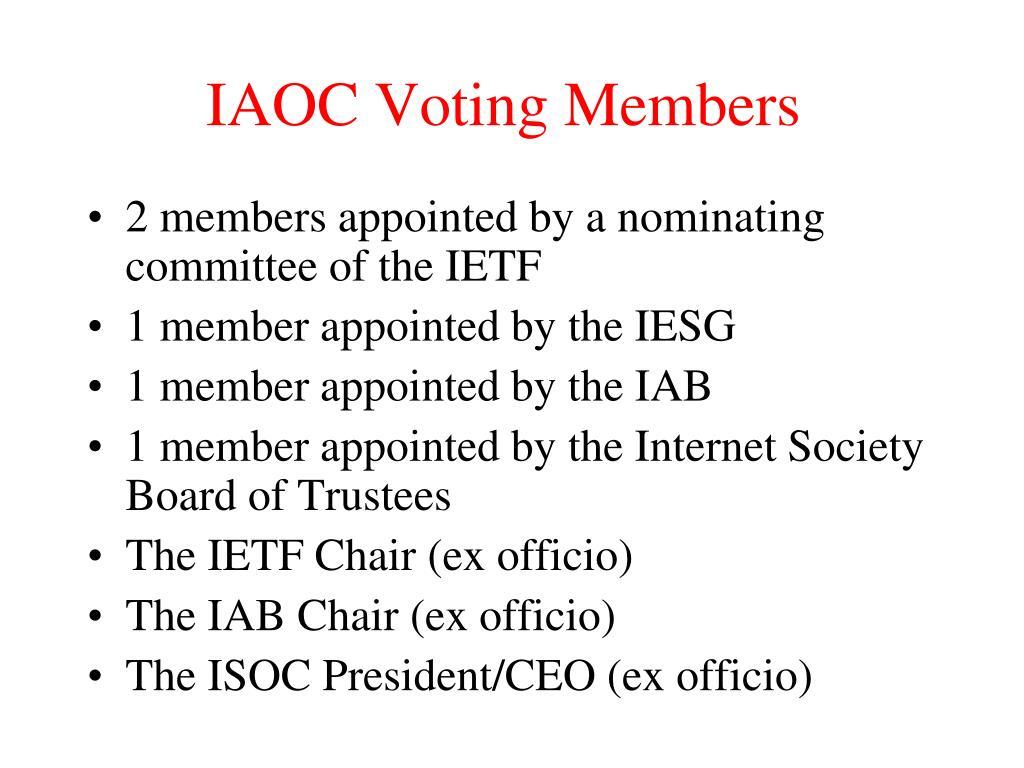 IAOC Voting Members
