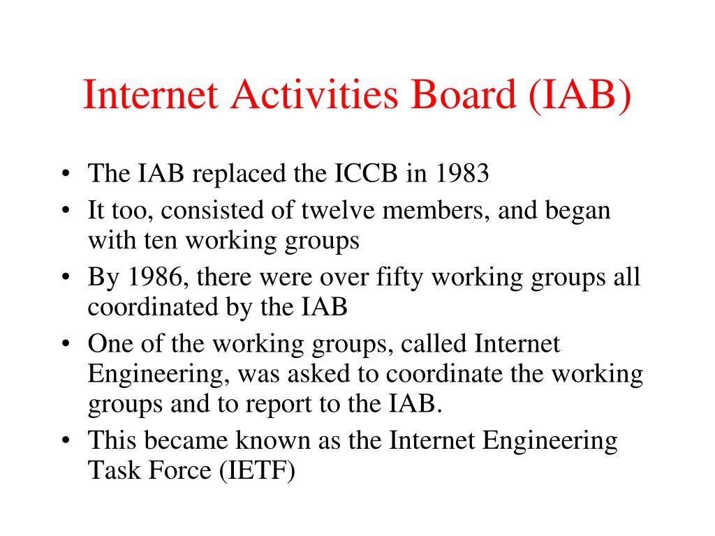 Internet Activities Board (IAB)