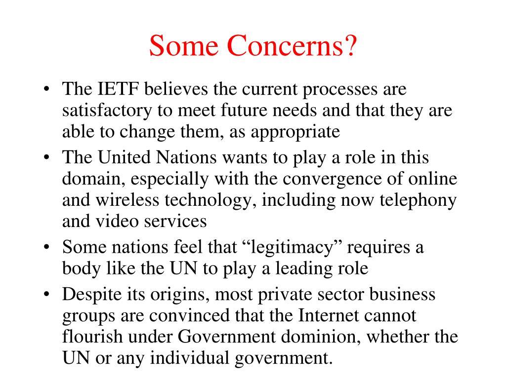 Some Concerns?