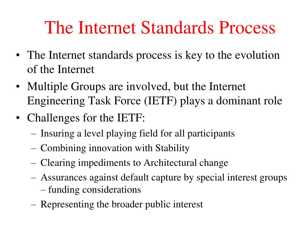 The Internet Standards Process
