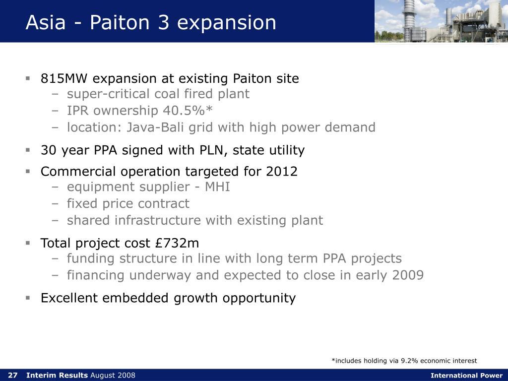 Asia - Paiton 3 expansion