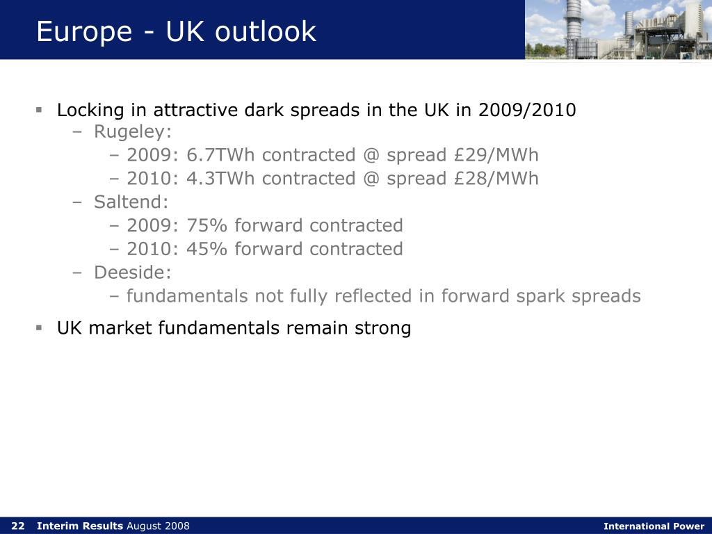 Europe - UK outlook