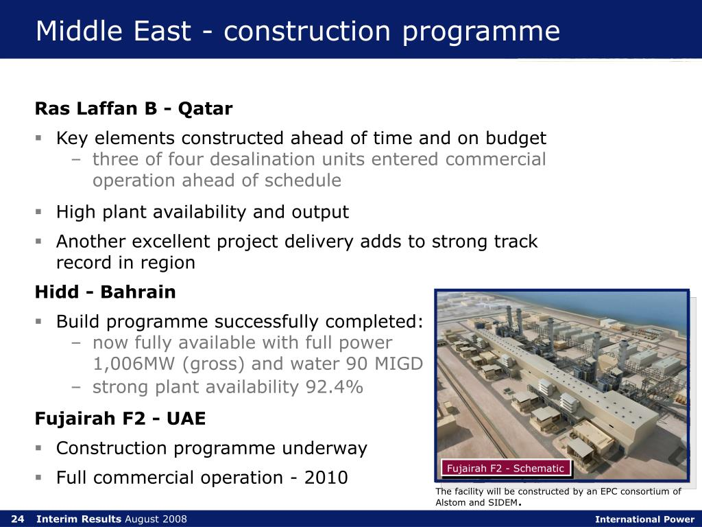 Middle East - construction programme