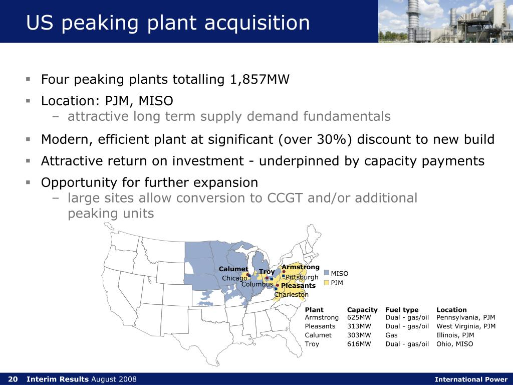 US peaking plant acquisition