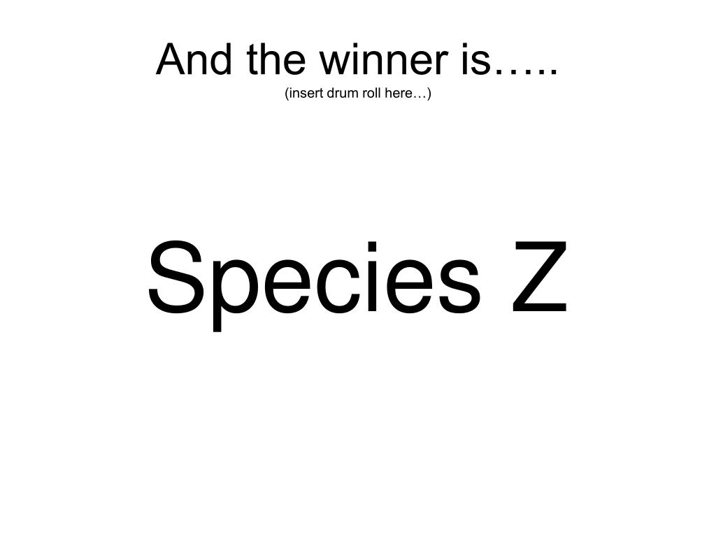 And the winner is…..