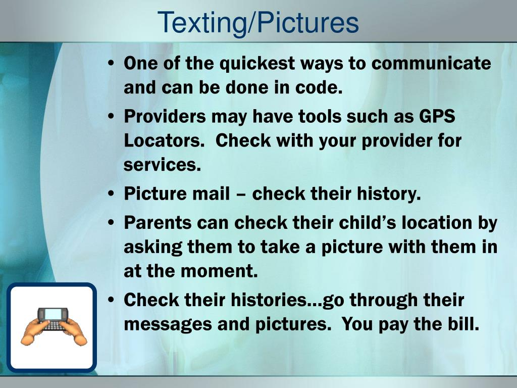 Texting/Pictures