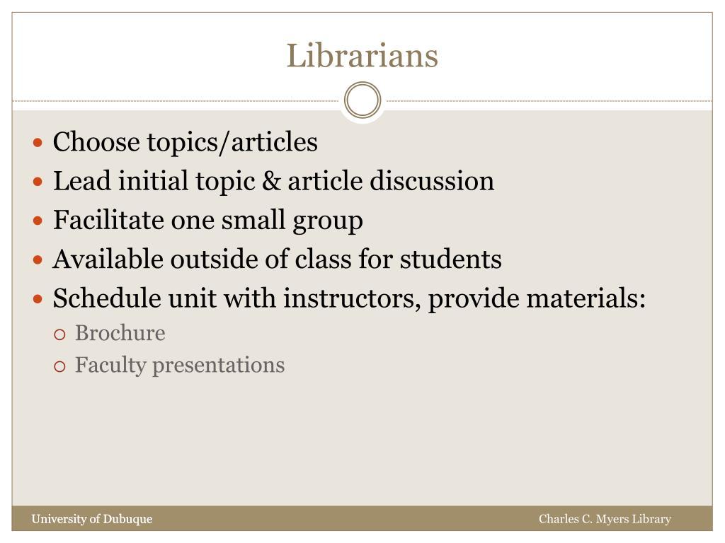 Librarians