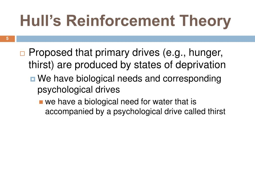 Hull's Reinforcement Theory