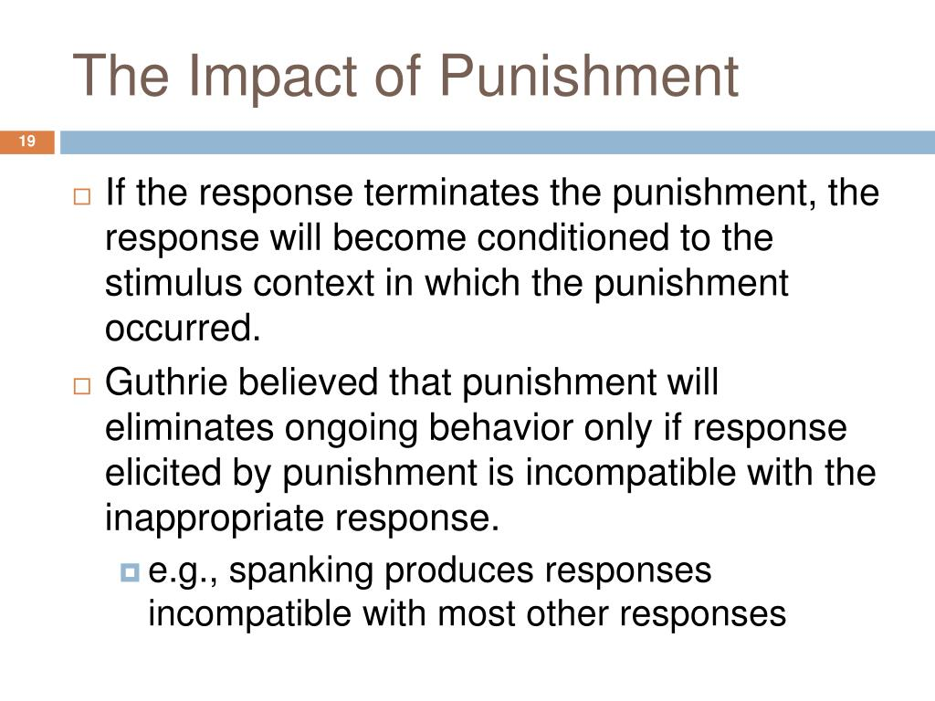 The Impact of Punishment