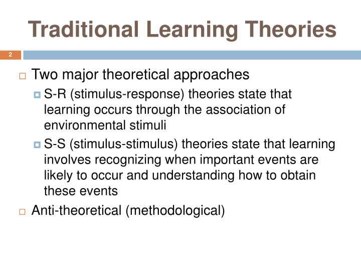 Traditional learning theories2